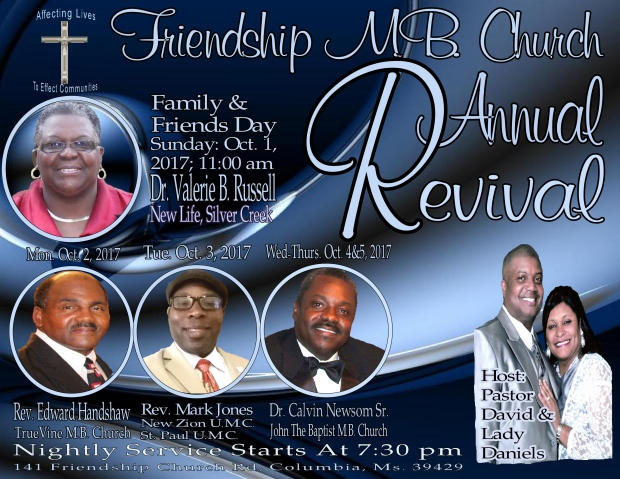 2017 Revival flyer